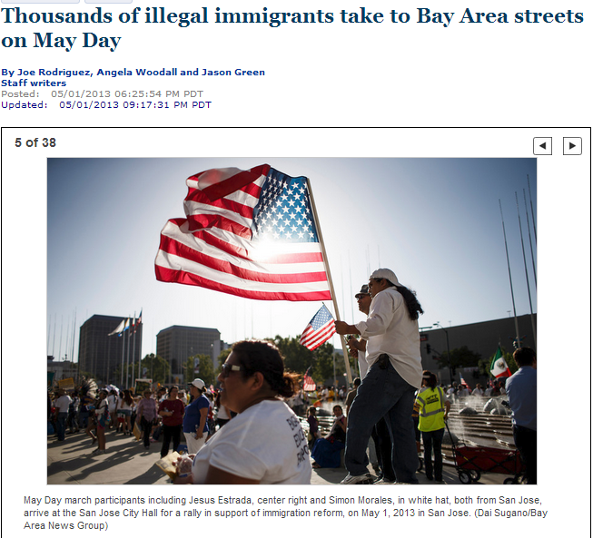 'Immigration attorney Bernardo Merino answers questions before May Day March'